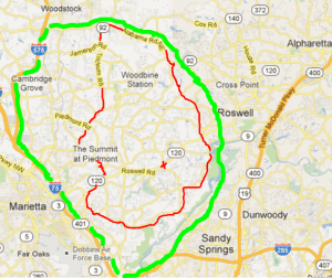 East Cobb Community Geographic Map